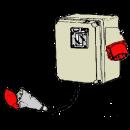Jordfelsbrytare, 380 V 16 amp