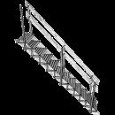 """Trappsteg för montage på 2x6"""" plank"""